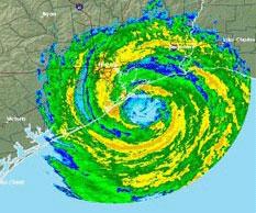 Hurricane Ike at landfall