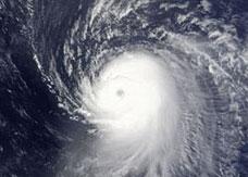 Hurricane Ike satellite image
