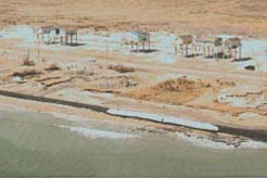 Fortified homes that survived Hurricane Ike on the Bolivar Peninsula, Texas