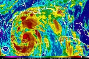 Hurricane Alex Satellite
