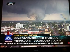 Screenshot from Fox affiliate in Tuscaloosa