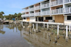 Damage as a result of flooding from Hermine in Cedar Key, FL. Photo by Complete.