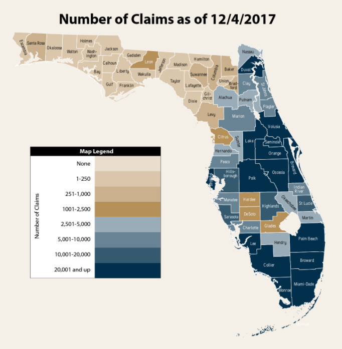 number of hurricane insurance claims