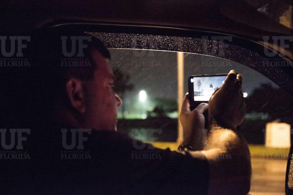 John Minor takes footage of Irma's powerful wind